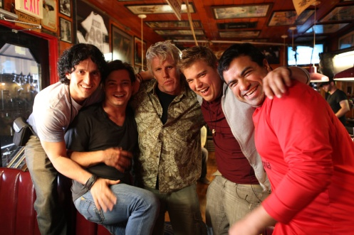 lft to rt: Erick Crespo, Andrew Lawrence, Gary Busey, Andrew Caldwell, and Miguel Ali