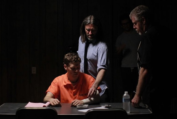 Ross Clarke, directing stars Joseph Morgan and Ron Perlman.