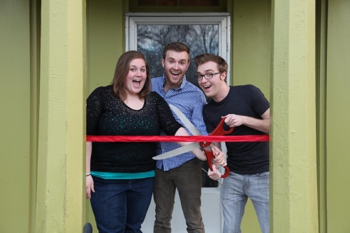 Natalie Jones and the Keeling brothers, filmmakers from THE HOUSE ON PINE STREET